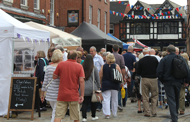 The Lichfield Food Festival market