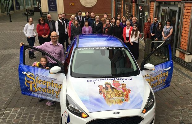 The panto care outside the Lichfield Garrick
