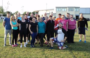 Members of the Burntwood Leisure Centre boot camp