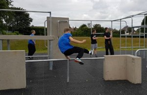 The new parkour park is put through its paces