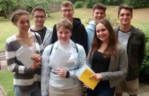 Students from Lichfield Cathedral School with their A-Level results