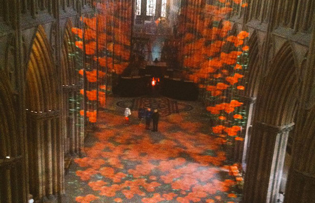 Lichfield Cathedral is transformed for the #BeforeAction memorial