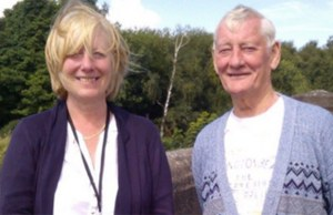 Diane Tilley with Cllr Eric Drinkwater on a tour of Burntwood