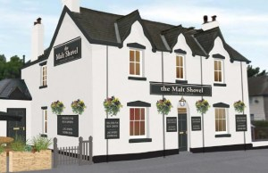 An artist's impression of The Malt Shovel's new look