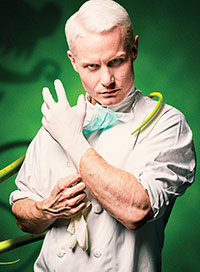 Rhydian as dentist Orin Scrivello in Little Shop of Horrors