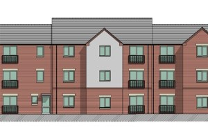 An artist's impression of what the new apartments would look like