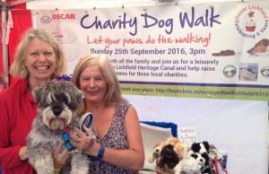 Jane Adams, from Oscar Pet Foods Lichfield, with Teenage Cancer Trust ambassador Jane Sutton