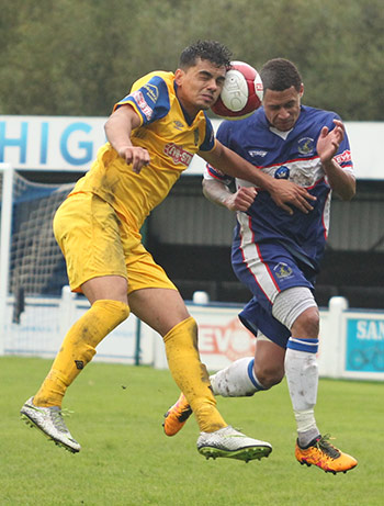 Action from Chasetown v Spalding United. Pic: Dave Birt