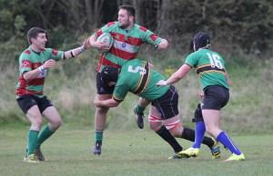 Luke Rookyard is tackled. Pic: Joanne Gough