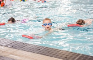 A swimming lesson at Friary Grange Leisure Centre