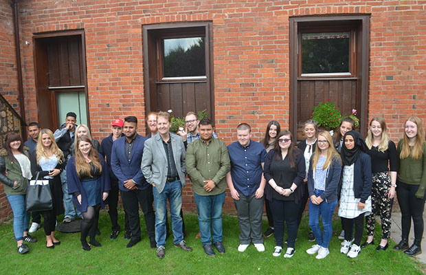 Matthew Ellis with members of the new youth commission