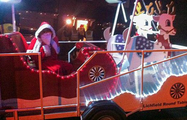 Lichfield Round Table's Santa sleigh