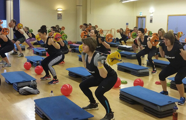The fundraising fitness class at Burntwood Leisure Centre
