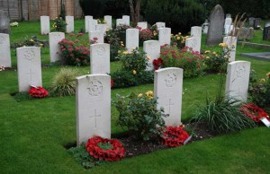 War graves at St Stephen's in Fradley