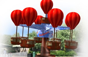 An artist's impression of the new James and the Red Balloon ride
