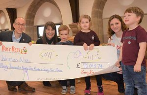 Busy Bees hands over the charity cheque to Winston's Wish