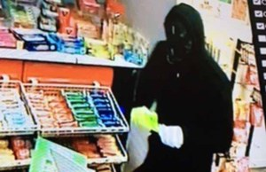 CCTV of the man who tried to rob a petrol station in Fazeley