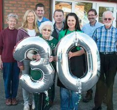 St Giles Hospice volunteers celebrate 30 years of the charity's Shenstone warehouse