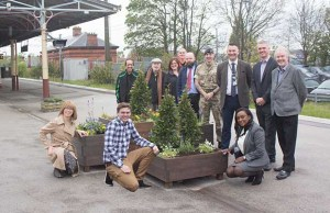 The new planter is unveiled at Lichfield City station