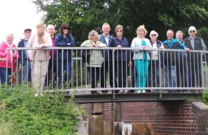 Boley Park residents on the Lichfield Canal walk