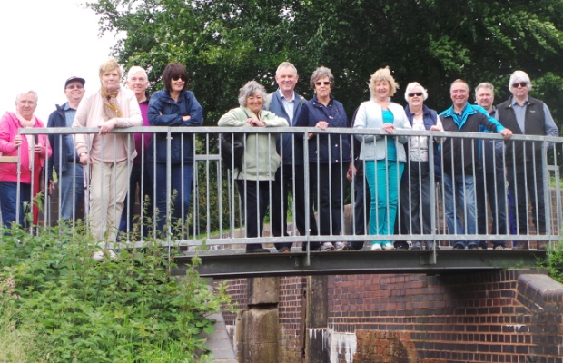 Boley Park residents on the Lichfield Canal walk