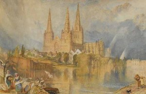 Turner's watercolour painting of Lichfield Cathedral