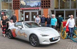 The new Aladdin car outside the Lichfield Garrick