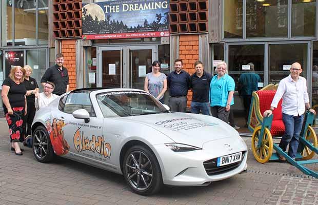 The new Aladdin car outside the Lichfield Garrick