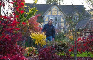 Ray Blundell in his garden