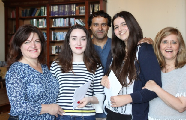 Lichfield Cathedral School students and their parents celebrate A Level success