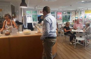 The coffee shop at Shenstone Library