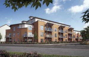 An artist's impression of the new Lichfield One development