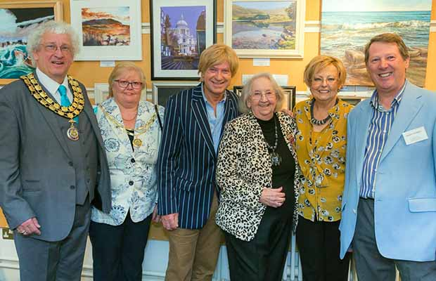 The Lichfield Society of Artists committee with former Mayor Doris English