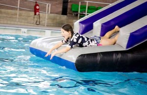 Inflatable swimming fun at Friary Grange Leisure Centre