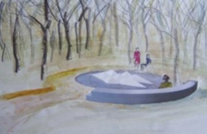 An artist's impression of the new Still Water memorial