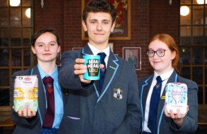 Students Kiera McCormick, Max Lucas and Abigail Philpott