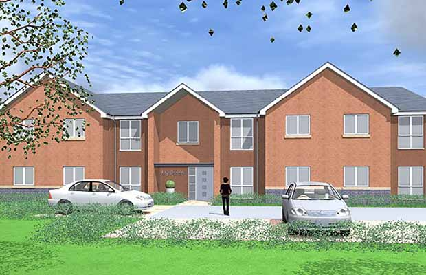 An artist's impression of the new development in Burntwood