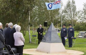 The dedication ceremony for the IX(B) Squadron Memorial
