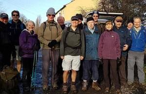 Lichfield Arts volunteers taking part in the walk