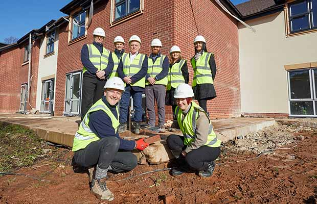 The topping out ceremony at The Spires care home