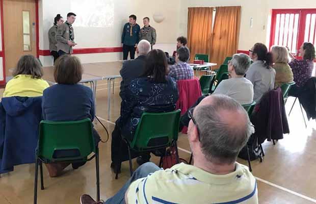Lichfield Explorers pitch at microfunding event, Lichfield Soup