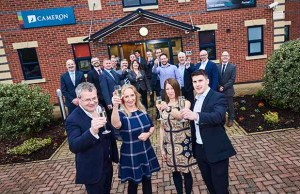 The launch of the new Cameron Homes office