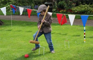 Robin Owen playing croquet at the Victorian May Day event in Lichfield