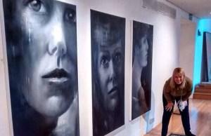 The exhibition of Caroline Lowe's work