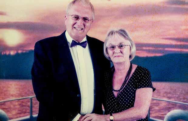 Ken Hood with his wife Maureen