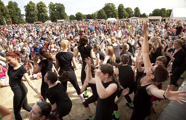 Crowds enjoying the Fuse Festival