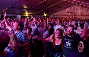 Crowds enjoying the Fuse Festival in Lichfield