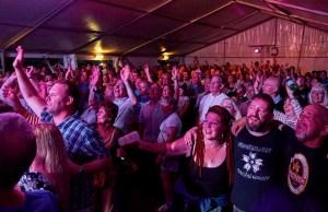 Crowds enjoying the Fuse Festival in Lichfield