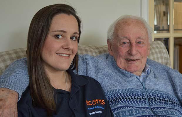 Gemma Williams and her grandad Bernard Gannon