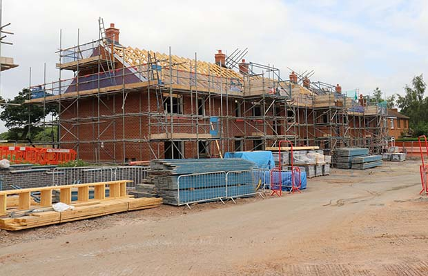 Houses being built on the Levett Road site